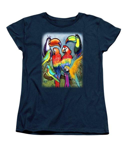 Tropical Birds Women's T-Shirt (Standard Cut)