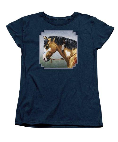 Buckskin Native American War Horse Women's T-Shirt (Standard Fit)