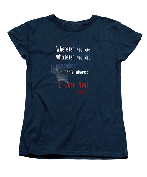 Wherever You Are Women's T-Shirt (Standard Cut) by Jutta Maria Pusl