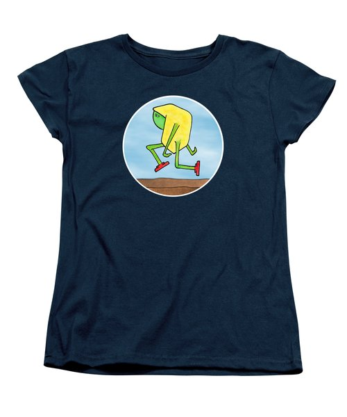 Women's T-Shirt (Standard Cut) featuring the drawing Skip by Uncle J's Monsters