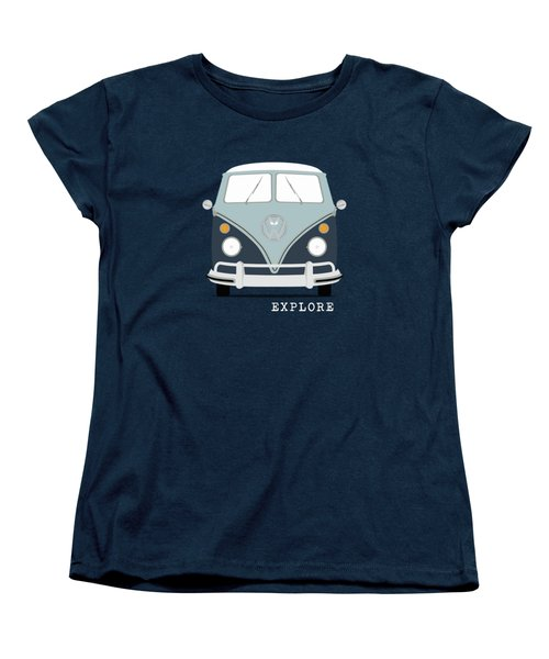 Vw Bus Blue Women's T-Shirt (Standard Cut) by Mark Rogan