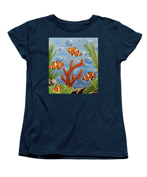 Clowning Around Women's T-Shirt (Standard Cut) by Teresa Wing