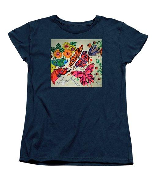 Eyes Of The Butterflies Women's T-Shirt (Standard Cut) by Alison Caltrider