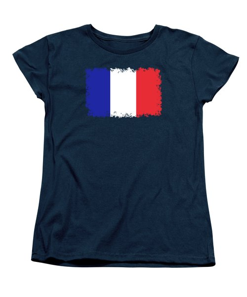 Flag Of France High Quality Authentic Image Women's T-Shirt (Standard Cut) by Bruce Stanfield