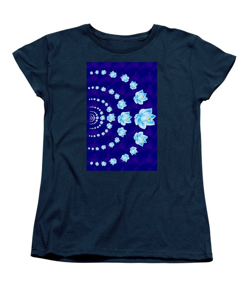 Blue Lotus Tunnel Women's T-Shirt (Standard Cut) by Samantha Thome