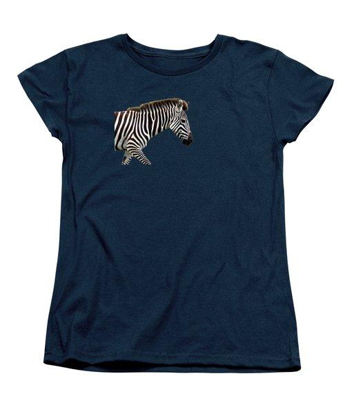 Zebra Women's T-Shirt (Standard Cut) by Aidan Moran