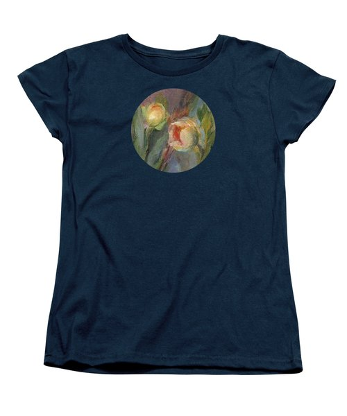 Women's T-Shirt (Standard Cut) featuring the painting Evening Bloom by Mary Wolf