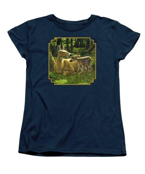 Whitetail Deer - First Spring Women's T-Shirt (Standard Cut)