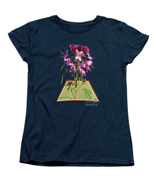 Rocky Mountain Bee Plant Women's T-Shirt (Standard Cut) by Shane Bechler