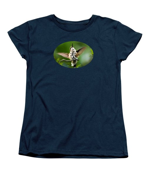 Hummingbird Happy Dance Women's T-Shirt (Standard Cut) by Christina Rollo