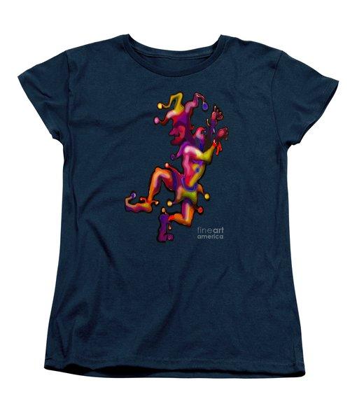 Mardi Gras Jester Women's T-Shirt (Standard Cut) by Kevin Middleton