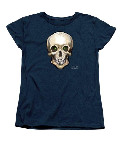 Skull Women's T-Shirt (Standard Cut) by Kevin Middleton