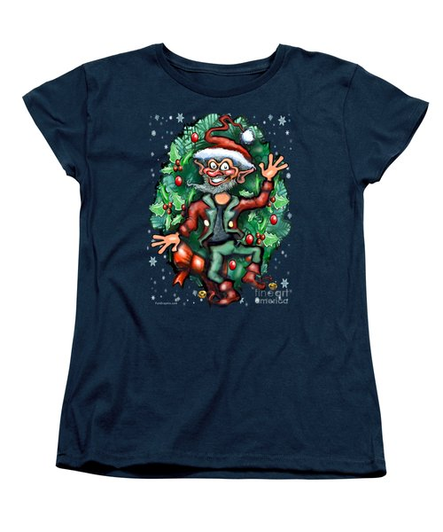 Christmas Elf Women's T-Shirt (Standard Cut) by Kevin Middleton