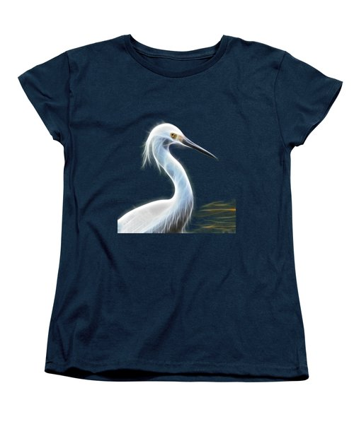 Snow Egret Women's T-Shirt (Standard Cut) by Shane Bechler
