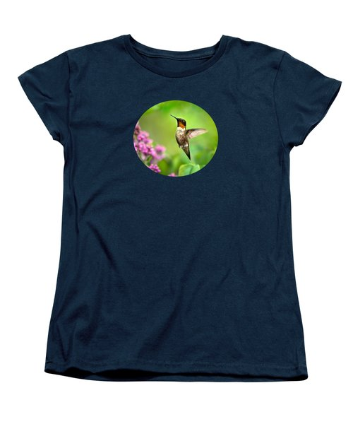 Welcome Home Hummingbird Women's T-Shirt (Standard Cut) by Christina Rollo