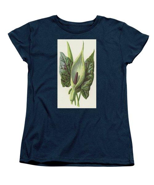 Arum, Cuckoo Pint Women's T-Shirt (Standard Cut) by Frederick Edward Hulme