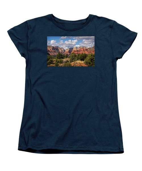Women's T-Shirt (Standard Cut) featuring the photograph As The Clouds Pass On By In Sedona  by Saija Lehtonen