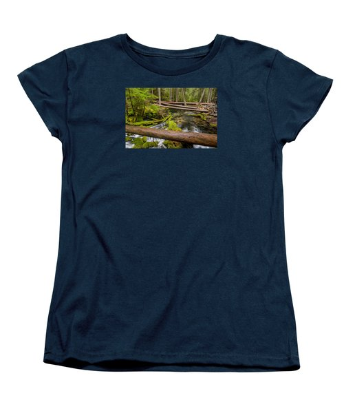 As The Creek Flows Women's T-Shirt (Standard Cut) by Greg Nyquist