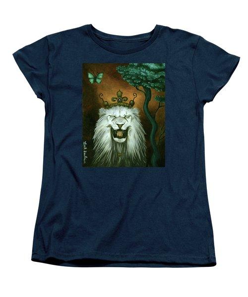 As The Lion Laughs Women's T-Shirt (Standard Cut) by Leah Saulnier The Painting Maniac