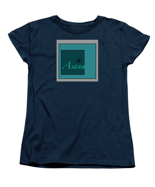 Asana In Blue Women's T-Shirt (Standard Cut) by Kandy Hurley