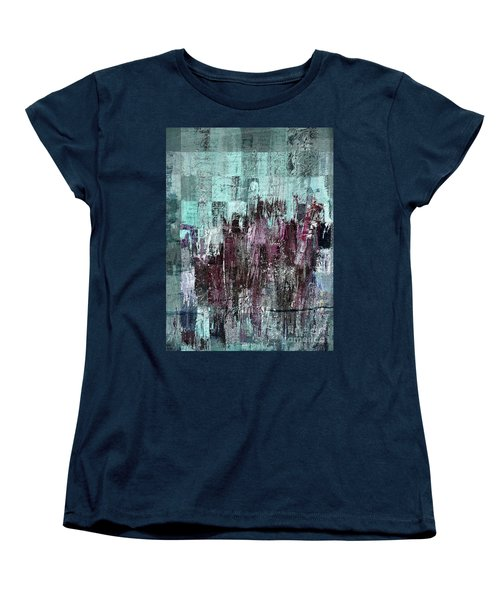 Women's T-Shirt (Standard Cut) featuring the digital art Ascension - C03xt-161at2c by Variance Collections