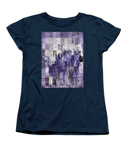 Women's T-Shirt (Standard Cut) featuring the painting Ascension - C03xt-166at2c by Variance Collections