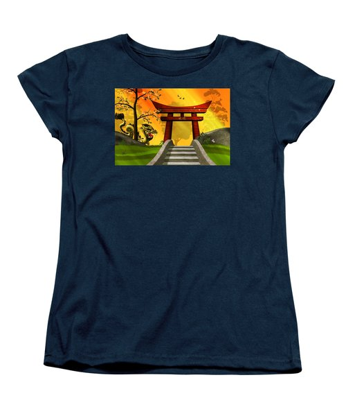Asian Art Chinese Landscape  Women's T-Shirt (Standard Cut) by John Wills