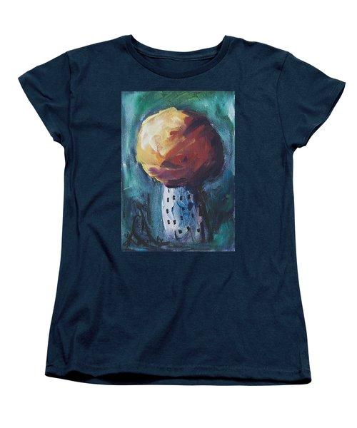 Women's T-Shirt (Standard Cut) featuring the painting Aspen Bolitas Mushroom by Yulia Kazansky