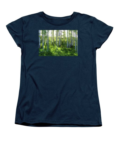 Women's T-Shirt (Standard Cut) featuring the photograph Aspen Morning 3 by Marie Leslie