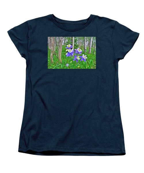 Aspens And Columbines Women's T-Shirt (Standard Cut) by Scott Mahon