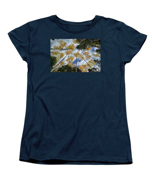 Women's T-Shirt (Standard Cut) featuring the photograph Aspens Reaching by Kevin Munro