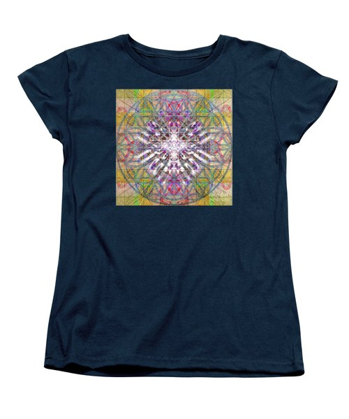 Women's T-Shirt (Standard Cut) featuring the digital art Assent From The Womb In The Flower Tree Of Life by Christopher Pringer