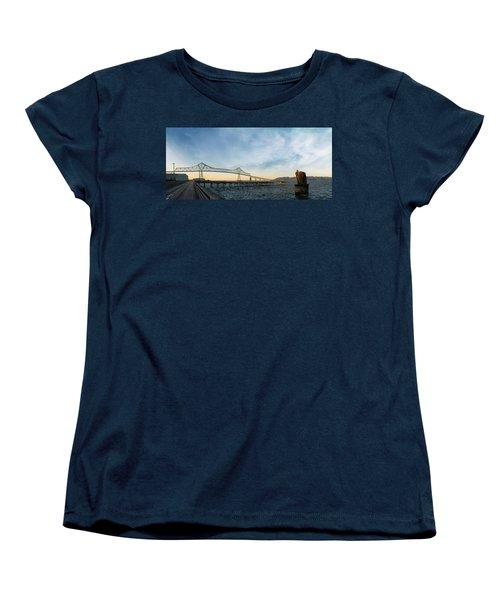 Astoria Megler Bridge By Riverwalk Panorama Women's T-Shirt (Standard Fit)
