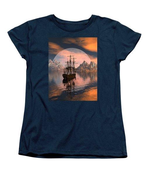 At Anchor Women's T-Shirt (Standard Cut) by Claude McCoy