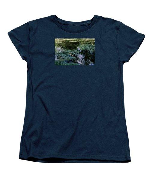 Women's T-Shirt (Standard Cut) featuring the photograph At Claude Monet's Water Garden 10 by Dubi Roman