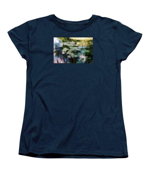 Women's T-Shirt (Standard Cut) featuring the photograph At Claude Monet's Water Garden 2 by Dubi Roman