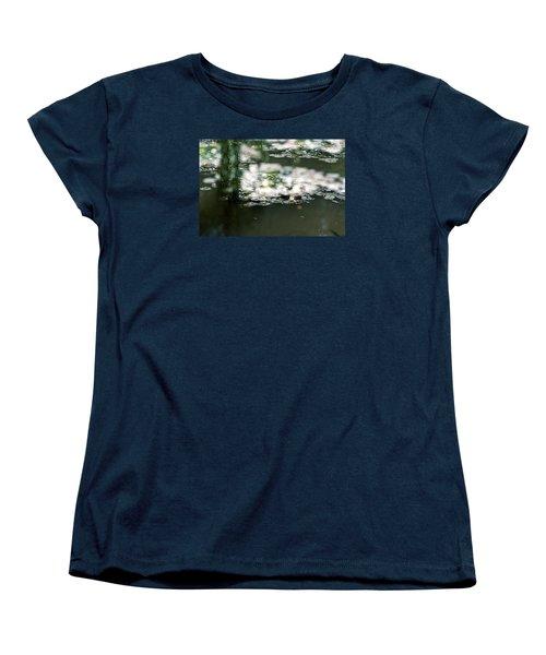 Women's T-Shirt (Standard Cut) featuring the photograph At Claude Monet's Water Garden 5 by Dubi Roman