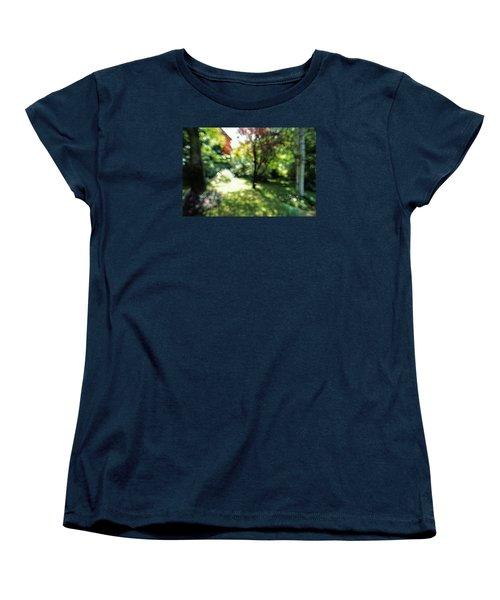 Women's T-Shirt (Standard Cut) featuring the photograph At Claude Monet's Water Garden 7 by Dubi Roman
