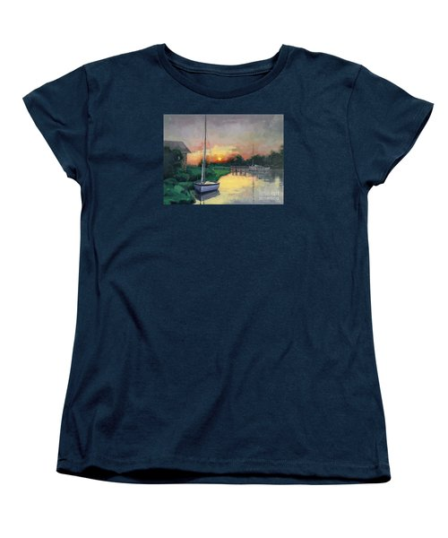 Women's T-Shirt (Standard Cut) featuring the painting At Ease Sold by Nancy Parsons
