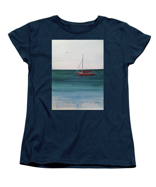Women's T-Shirt (Standard Cut) featuring the painting At Rest by Wendy Shoults