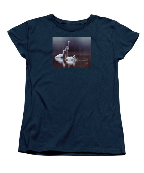 At The Fishing Pond Women's T-Shirt (Standard Cut) by Susi Stroud