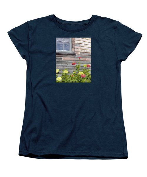 Women's T-Shirt (Standard Cut) featuring the painting At The Shelburne by Lynne Reichhart