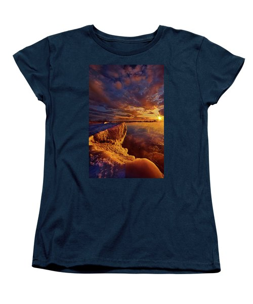 Women's T-Shirt (Standard Cut) featuring the photograph At World's End by Phil Koch