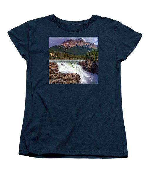 Athabasca Falls Women's T-Shirt (Standard Cut) by Heather Vopni