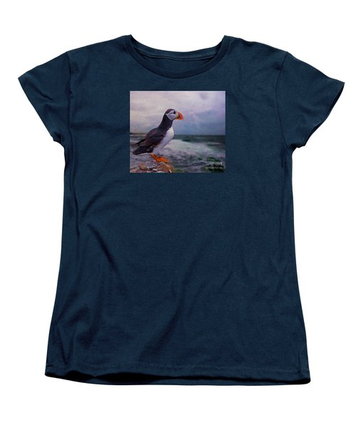 Atlantic Puffin Women's T-Shirt (Standard Cut) by Jim  Hatch
