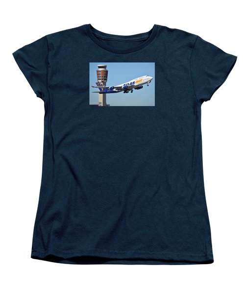 Atlas Air Boeing 747-446 N465mc Phoenix Sky Harbor January 12 2015 Women's T-Shirt (Standard Cut) by Brian Lockett