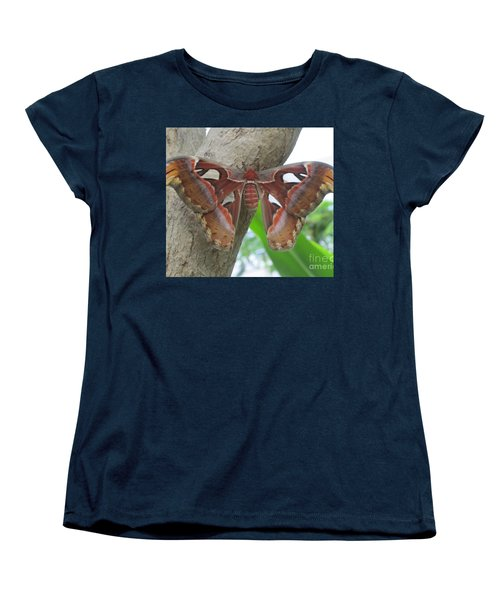Women's T-Shirt (Standard Cut) featuring the photograph Atlas Butterfly by Jeepee Aero