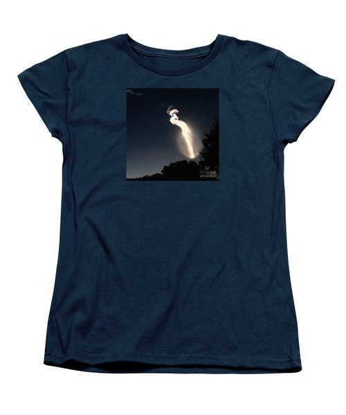 Women's T-Shirt (Standard Cut) featuring the photograph Atlas V Launch Flare by AnnaJo Vahle