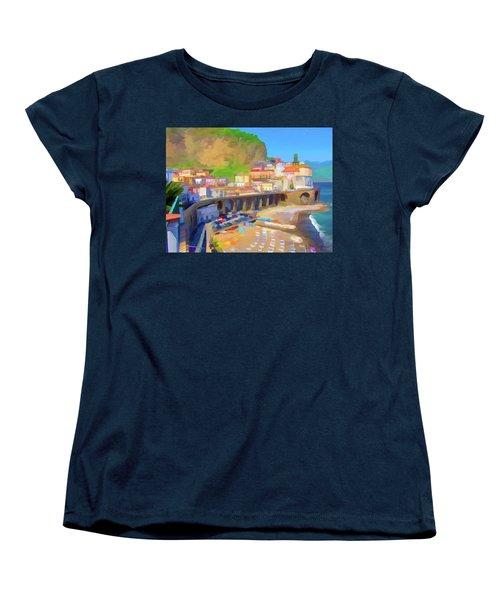 Atrani Italy 01 Women's T-Shirt (Standard Cut) by Wally Hampton