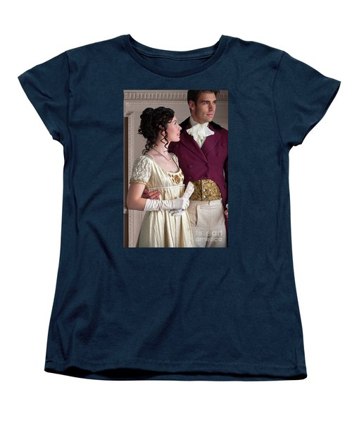 Attractive Regency Couple Women's T-Shirt (Standard Cut) by Lee Avison